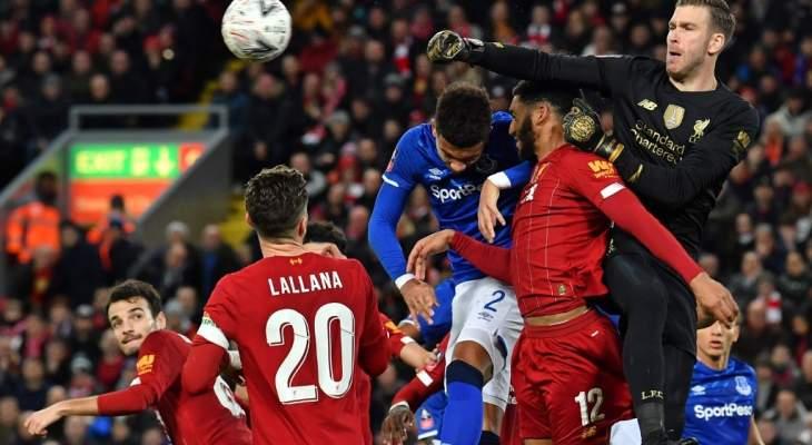 ادريان يساعد ليفربول في تخطي ايفرتون وبيكفورد يتألق ببعض الكرات