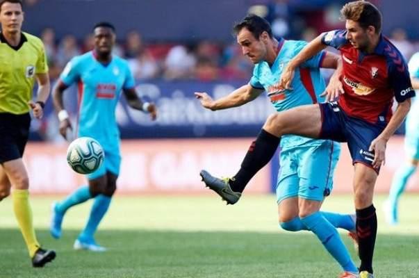 تعادل سلبي لأوساسونا وايبار في الدوري الاسباني