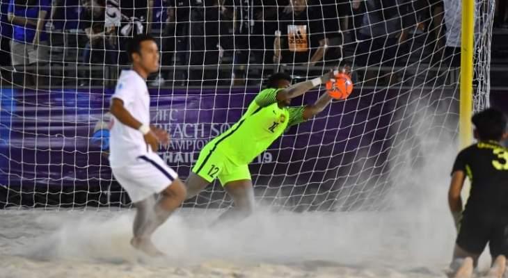 ماليزيا تفوز على تايلاند في بطولة كاس اسيا لكرة القدم الشاطئية