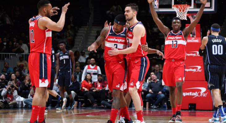 NBA : ويزيردز يفوز على ماجيك و23 نقطة لبرادلي بير