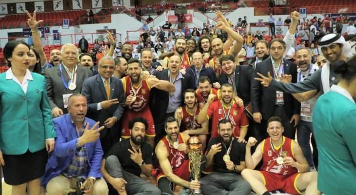 الحلبي يهنئ نادي الرياضي  لاحرازه لقب دورة دبي وبيروت لاحتلاله المركز الثاني