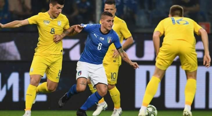 اوكرانيا تقود ايطاليا للتعادل وابناء المدرب مانشيني يستعصي عليهم الفوز
