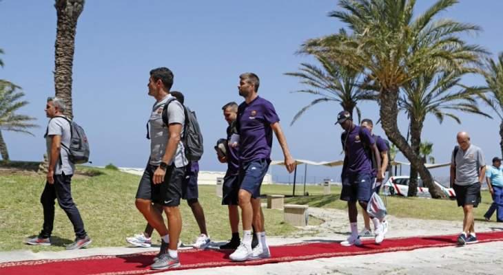 بعثة برشلونة تصل المغرب