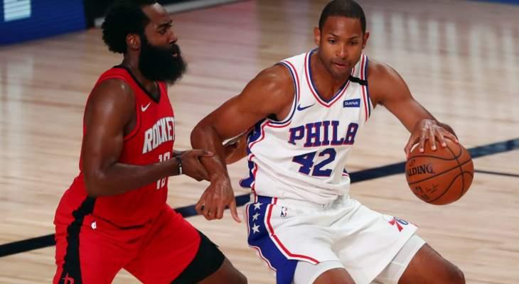 NBA: فيلادلفيا يفوز على هيوستن بفارق 38 نقطة