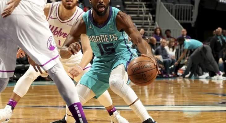 NBA : هورنيتس يفوز على تيمبروولفز و31 نقطة لكيمبا والكر