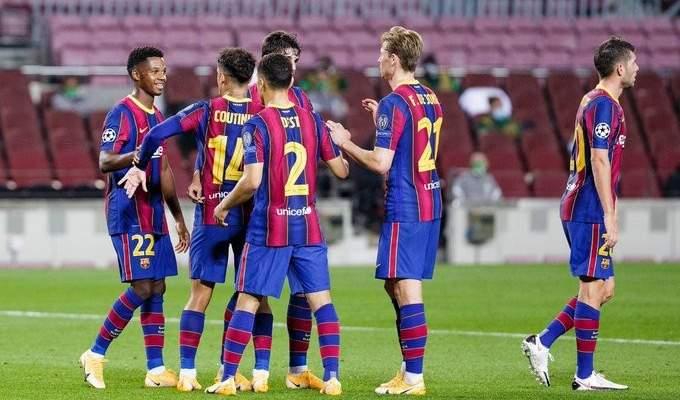 اهداف مباراة برشلونة وفرانكفاروس في دوري الابطال