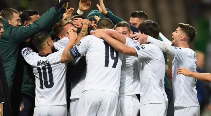 مانشيني يدخل التاريخ بعد فوز إيطاليا على البوسنة والهرسك