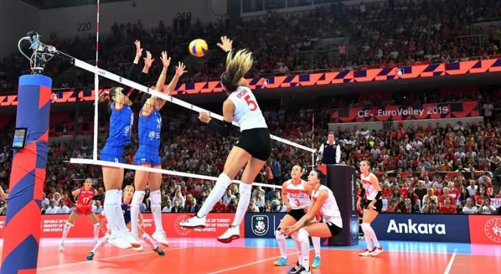 سيدات صربيا تحرزن لقب بطولة امم اوروبا للكرة الطائرة