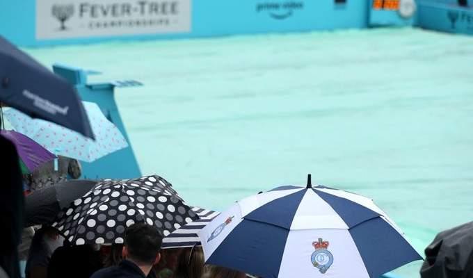 الغاء جميع مباريات اليوم في بطولة كوينز بسبب الامطار