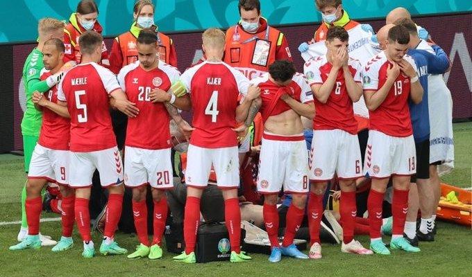 اليويفا يعلق مباراة الدنمارك وفنلندا بعد سقوط اريكسن