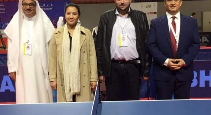 دورة الأندية العربية للسيدات  مشاركة فاعلة للاداريين شيري والعقيقي