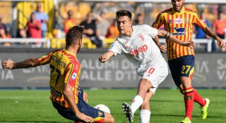 الدوري الايطالي: ليتشي يعرقل اليوفي ويمنح الفرصة للانتر لتصدر البطولة