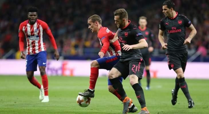 اتلتيكو مدريد يُنهي حقبة فينغر اوروبياً مع الغنرز ويتأهل لنهائي الدوري الاوروبي