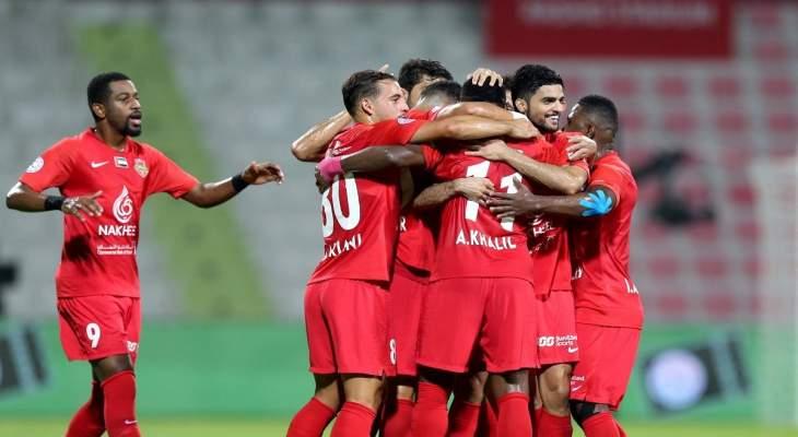 الدوري الاماراتي: فوز كبير لشباب الاهلي دبي على عجمان