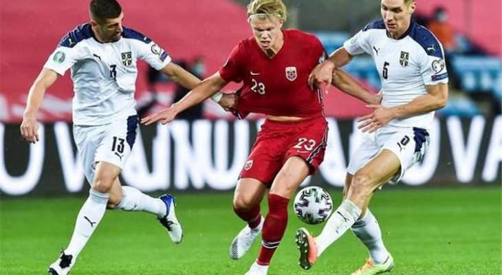 هالاند يشعر بخيبة امل بعد فشل النرويج في التأهل ليورو 2020