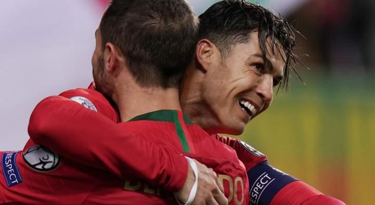 ارقام واحصاءات من مباراة البرتغال وليتوانيا