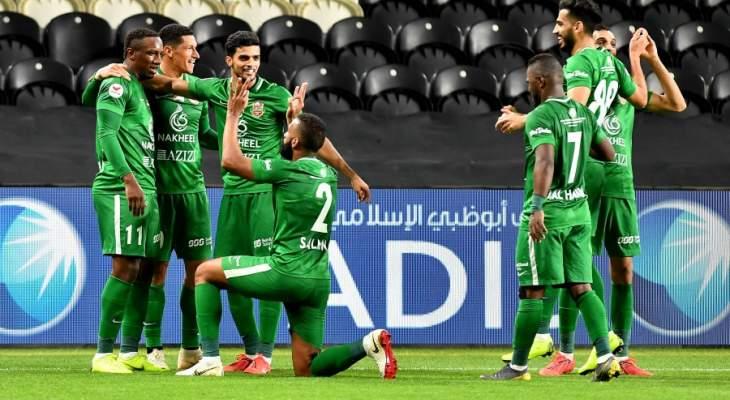 الدوري الاماراتي: شباب الاهلي دبي يسقط الجزيرة وعجمان يتعادل مع النصر