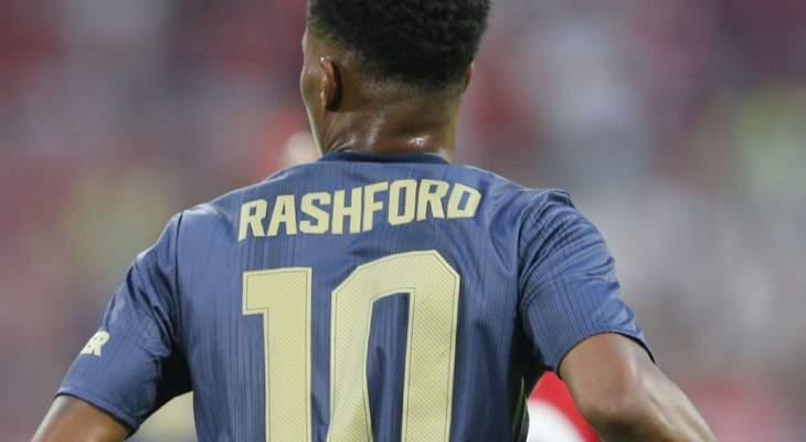 المانيو يهنئ لاعبه راشفورد بجائزة الشهر