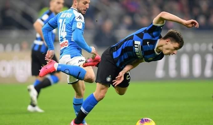 كأس ايطاليا: نابولي يتفوق ذهاباً على النيراتزوري في معقل الجيوزبي مياتزا