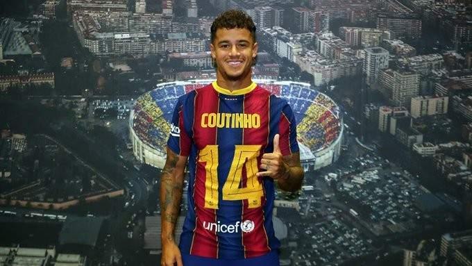 رقم جديد لـ كوتينيو مع برشلونة