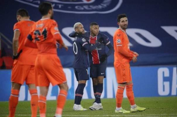 باريس سان جيرمان يخطف صدارة المجموعة بخماسية امام باشاك شهير