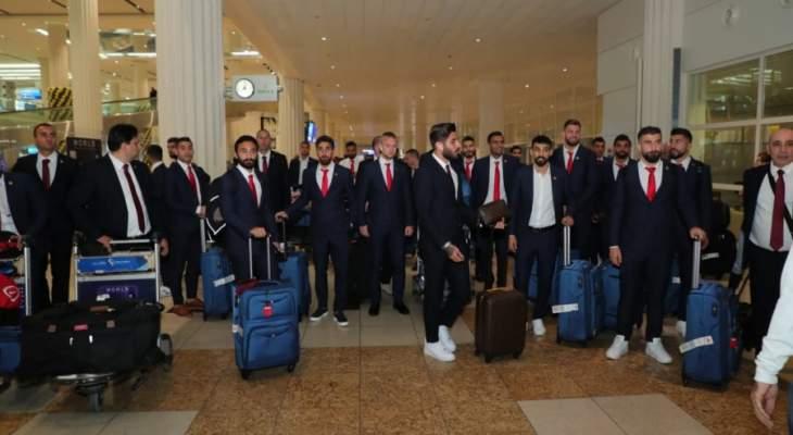 استقبال رائع لمنتخب الارز في الامارات