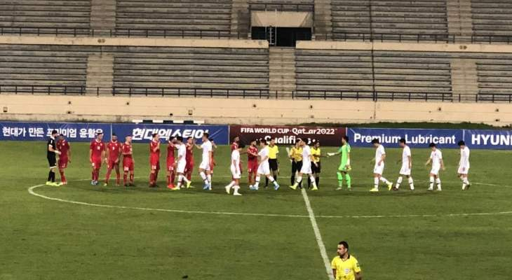 نهاية المباراة : لبنان 0 - 0 كوريا الشمالية