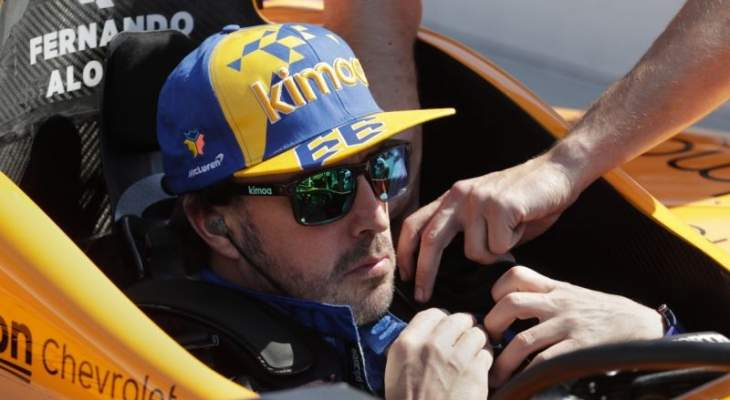 فرناندو الونسو يتعرّض لحادث كبير في تجارب إندي 500