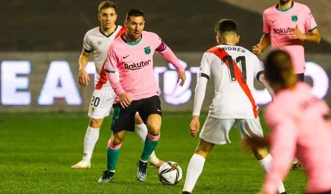 كأس ملك اسبانيا: برشلونة يعبر للدور ربع النهائي بفوز صعب امام رايو فاليكانو
