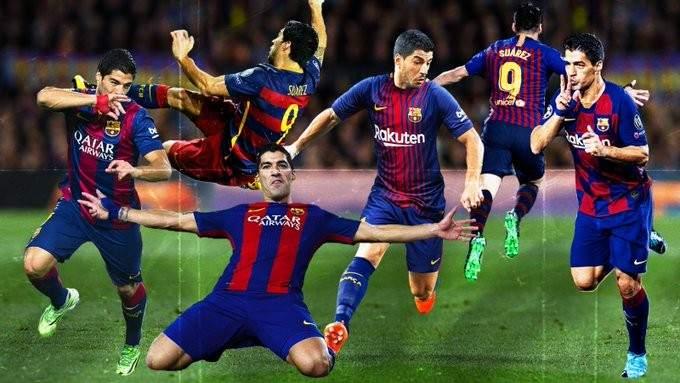 برشلونة يعلن رحيل سواريز
