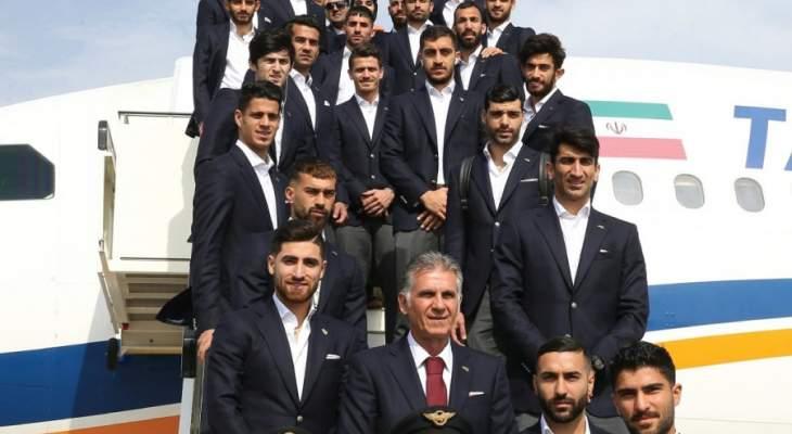 منتخب ايران في لقطة على درج الطائرة قبل خوض غمار كأس  اسيا 2019