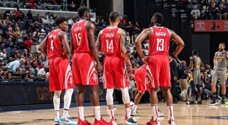 NBA: هيوستن روكتس يفشل في حسم تأهله الى نهائيات المجموعة الغربية