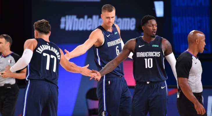 دالاس مافريكس ينهي غيابا عن نهائيات NBA  دام ثلاث سنوات
