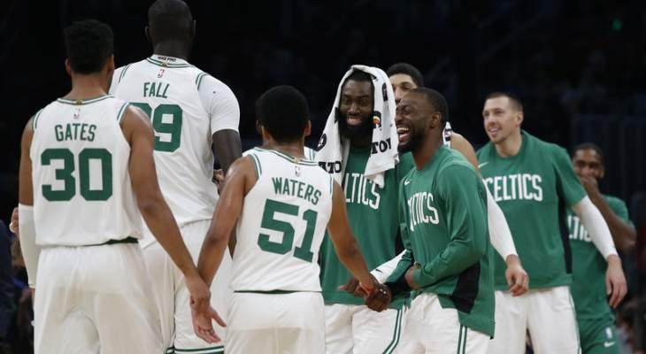 NBA: بوسطن بدون اي هزيمة ومينسوتا يتفوق على انديانا