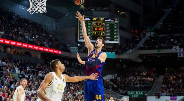 ريال مدريد يهزم برشلونة في الدوري الاوروبي لكرة السلة