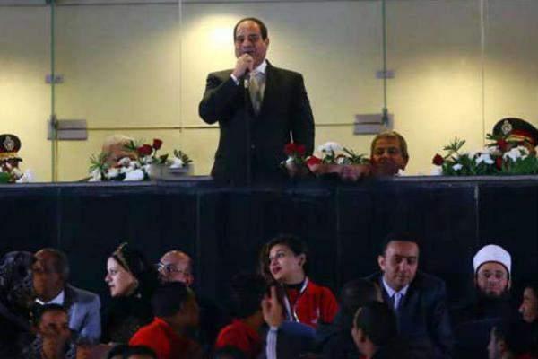 الرئيس المصري يفتتح الدورة الثامنة للأولمبياد الخاص