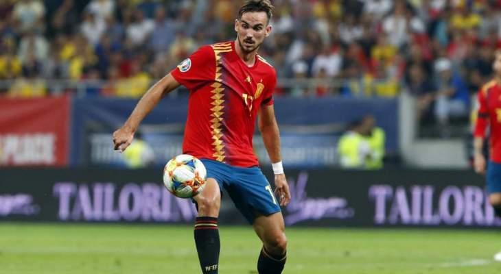 فابيان رويز يغيب عن تدريبات المنتخب الاسباني