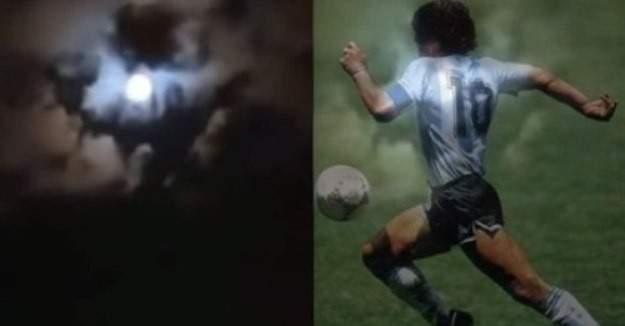 صورة مارادونا تظهر في سماء الأرجنتين؟