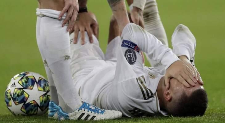 الجراحة قد تنهي موسم إيدين هازارد مع ريال مدريد