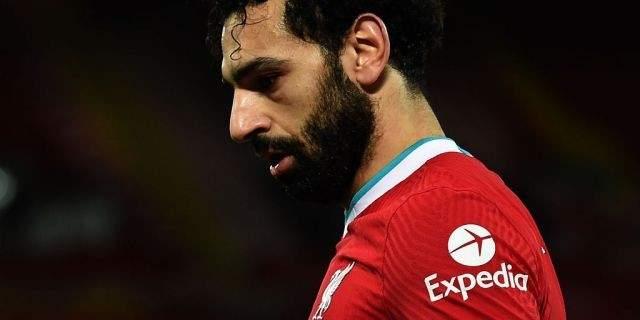 صلاح غير سعيد في ليفربول