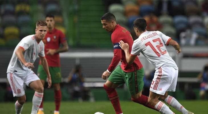 ابرز مجريات مباراة اسبانيا والبرتغال