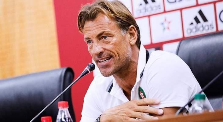 هيرفي رينارد يستقيل من تدريب المغرب