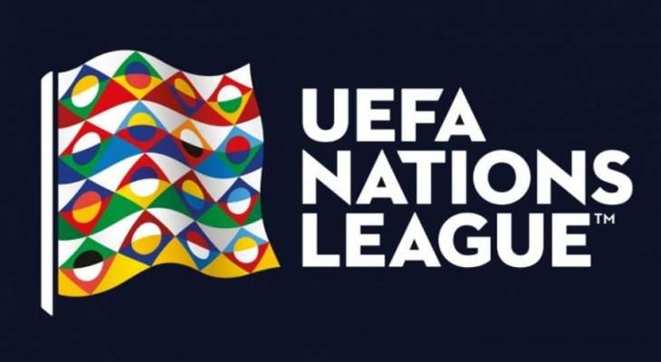 ترتيب المجموعات التي خاضت اخر مبارياتها في دور المجموعات من دوري امم اوروبا
