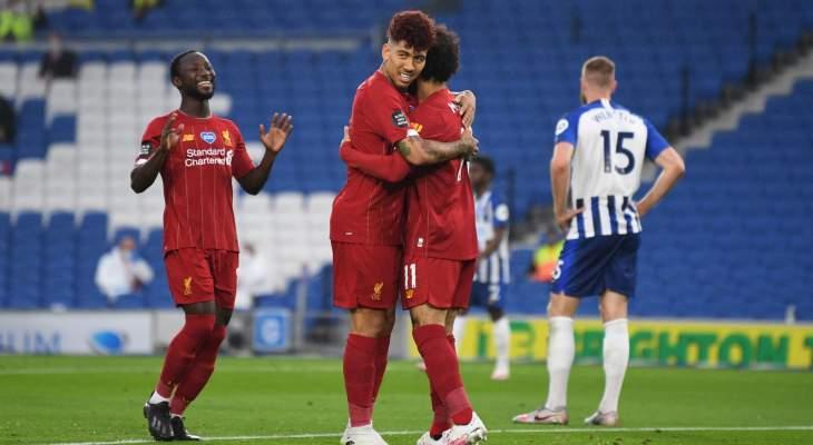البريمرليغ: ليفربول يواصل عروضه القوية بفوز مستحق امام برايتون