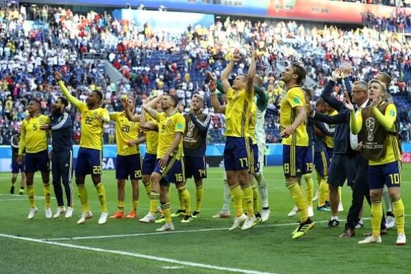 ابرز احصاءات مباراة السويد وسويسرا