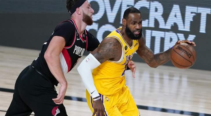 ليبرون ويانيس افضل لاعبي NBA  في  29 اب 2020
