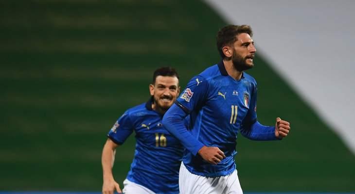 هدفا ايطاليا في مرمى بولندا
