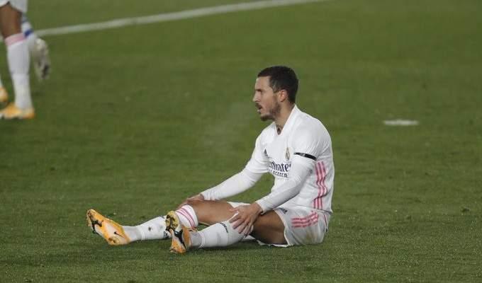ريال مدريد يوضح طبيعة إصابة هازارد