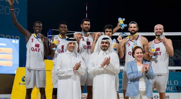 دورة الألعاب العالمية الشاطئية : فضية لقطر في مسابقة الكرة الطائرة