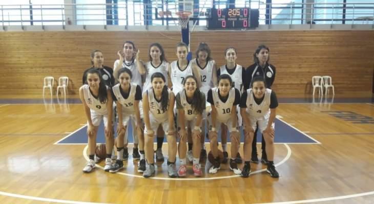 طالبات لبنان يخسرن امام ايرلندا في السلة المدرسية